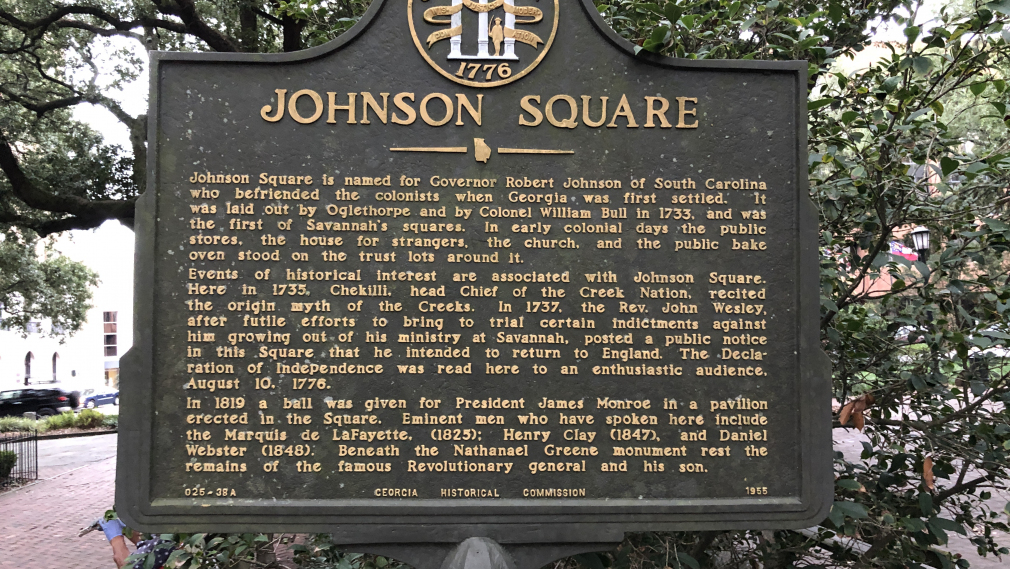 #1 Ghost Tour - Johnson Square Marker