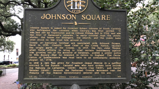 #1 Ghost Tour - Johnson Square Marker