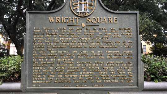 #1 Ghost Tour - Wright Square Marker